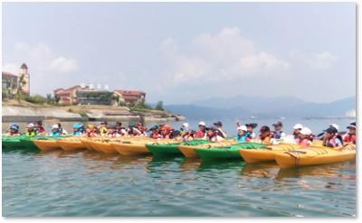 夏令营水上项目---皮划艇